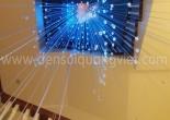 Atrium fiber optic chandelier 1-2