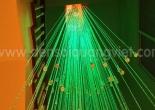 Atrium fiber optic chandelier 1-5
