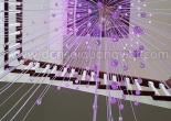 Atrium fiber optic chandelier 1-6