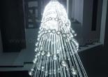 Atrium fiber optic chandelier 10-8
