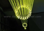 Atrium fiber optic chandelier 2-1