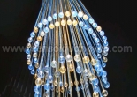 Atrium fiber optic chandelier 2-8