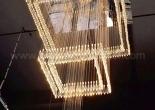 Atrium fiber optic chandelier 3-1
