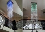 Atrium fiber optic chandelier 3-6