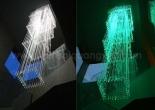 Atrium fiber optic chandelier 3-7