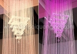 Atrium fiber optic chandelier 5-1