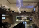 Atrium fiber optic chandelier 8-4