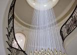 Custom atrium fiber optic chandelier 1