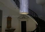 Custom atrium fiber optic chandelier 2