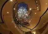 Custom atrium fiber optic chandelier 6