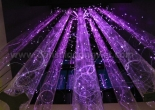 Custom atrium fiber optic chandelier 8