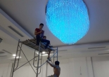 Fiber optic chandelier 35-5