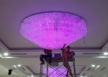 Fiber optic chandelier 35-6