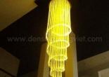 Fiber optic chandelier 6-3