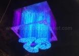 Letter shaped fiber optic chandelier 3