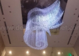 Logo shaped fiber optic chandelier 3