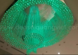 Logo shaped fiber optic chandelier 6