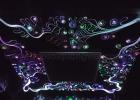 Patterned fiber optic ceiling