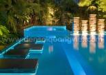Pool wall and steps decoration 8