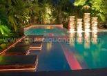 Pool wall and steps decoration 9