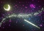 Star ceiling galaxy moon shooting star 2